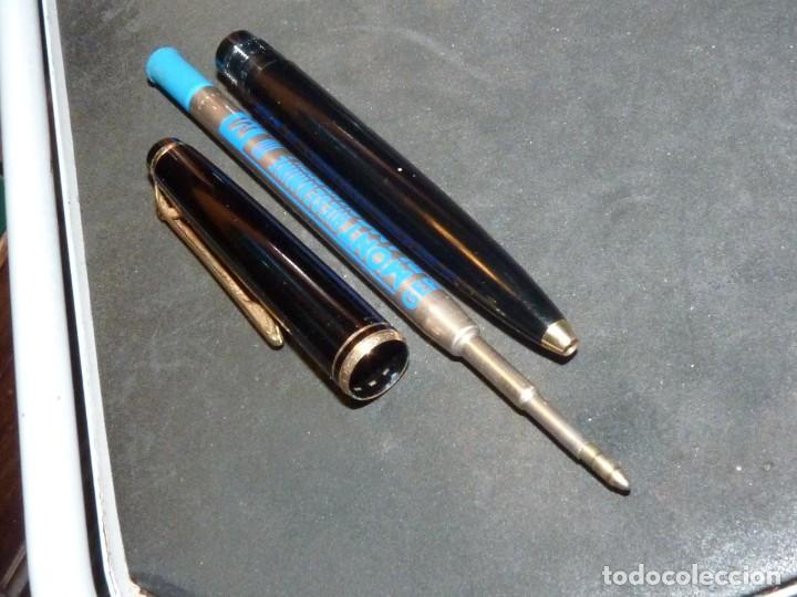 Bolígrafos antiguos: ANTIGUO BOLIGRAFO MONTBLANC Nº 28 RARO MECANISMO EN EL CLIP ORIGINAL AÑOS 60 - Foto 7 - 169140880