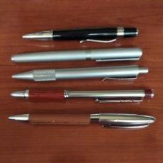Bolígrafos antiguos: BOLÍGRAFOS DE METAL DIFERENTES ( 5 UNIDADES ). Lote 171704310