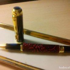 Bolígrafos antiguos: BOLIGRAFO DRAGON ROJO.. Lote 172015435