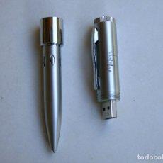 Bolígrafos antiguos: BOLIGRAFO CON PEN DRIVE 4 GIGAS. Lote 173824660