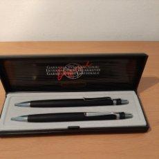 Bolígrafos antiguos: ESTUCHE CON BOLIGRAFO Y LÁPIZ, INOXCROM. Lote 175392404