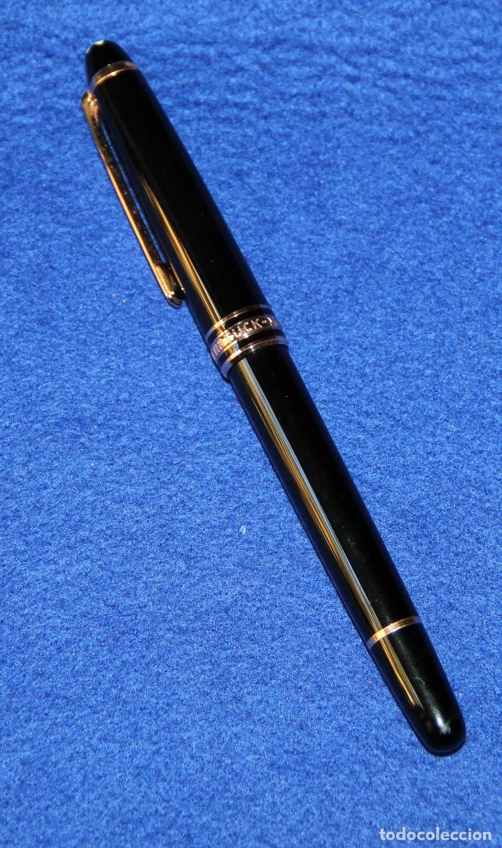 Bolígrafos antiguos: BOLIGRAFO ROLLERBALL MONTBLANC MEISTERSTÜCK - Foto 9 - 175530423