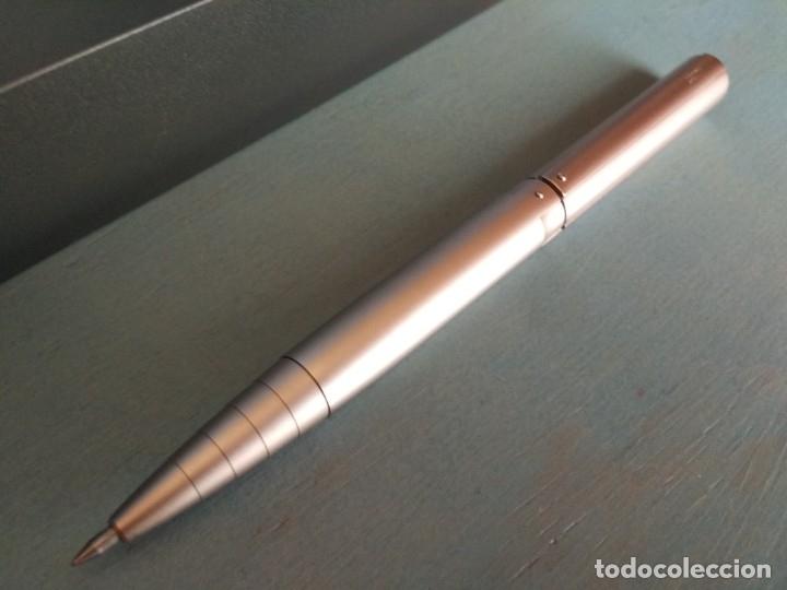 Bolígrafos antiguos: ROLLER LAMY DIALOG 2 CON ACABADO EN PALADIO - Foto 8 - 175972614
