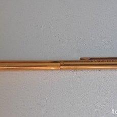 Bolígrafos antiguos: ANTIGUO BOLIGRAFO WATERMAN WATERMANS CHAPADO EN ORO PLAQUE D´OR FRANCE AÑOS 60. Lote 176239119