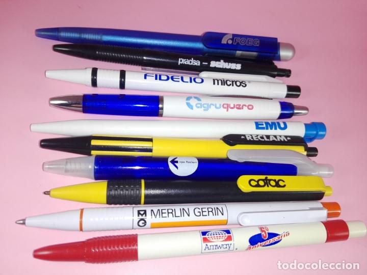 Bolígrafos antiguos: lote 10 bolígrafos-publicidad diversa-ver fotos - Foto 2 - 176308907
