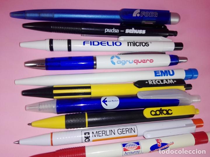 Bolígrafos antiguos: lote 10 bolígrafos-publicidad diversa-ver fotos - Foto 3 - 176308907