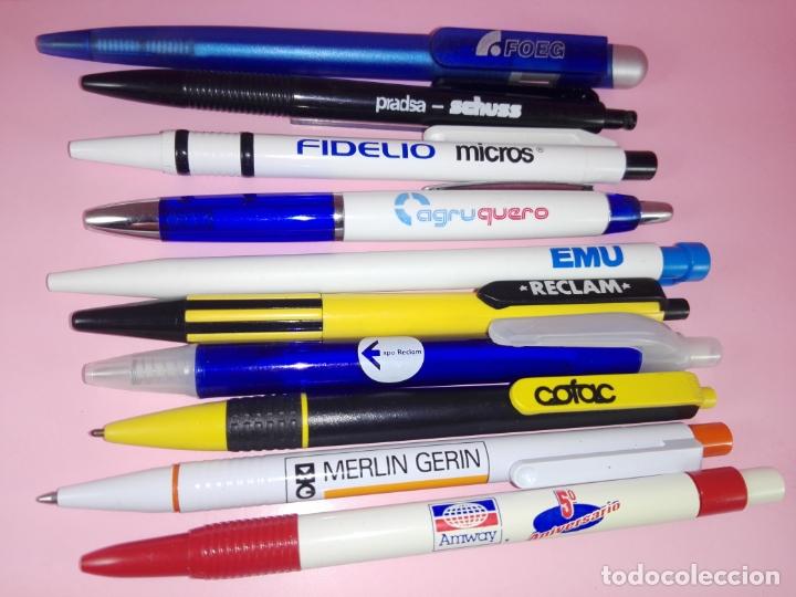 Bolígrafos antiguos: lote 10 bolígrafos-publicidad diversa-ver fotos - Foto 4 - 176308907