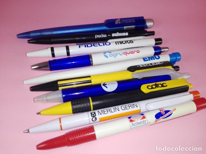 Bolígrafos antiguos: lote 10 bolígrafos-publicidad diversa-ver fotos - Foto 5 - 176308907