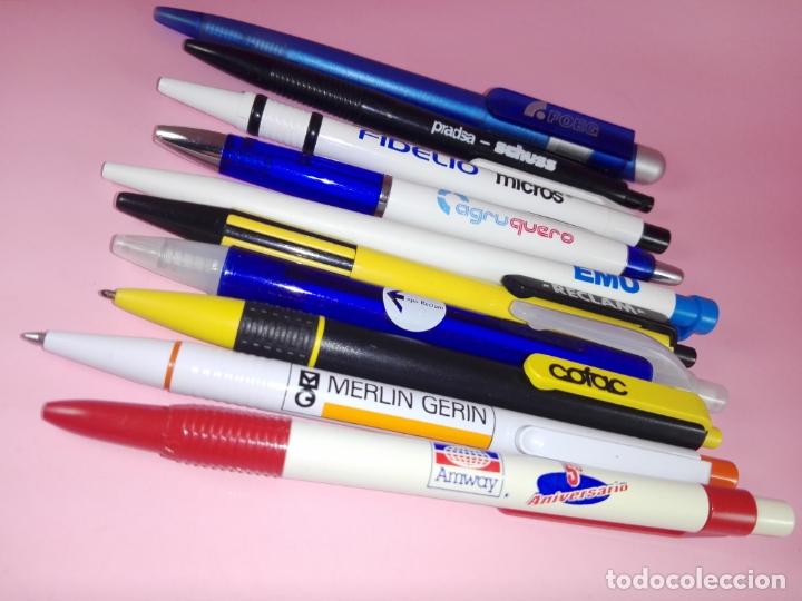 Bolígrafos antiguos: lote 10 bolígrafos-publicidad diversa-ver fotos - Foto 6 - 176308907
