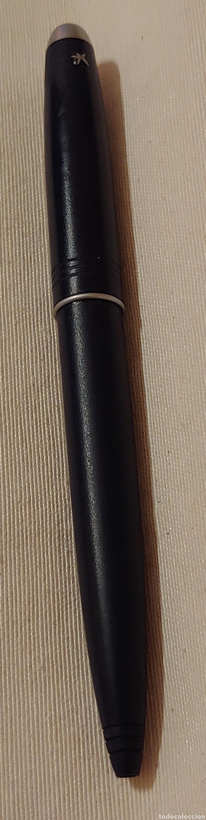 Bolígrafos antiguos: Antiguo bolígrafo La Caixa en color azul - Foto 3 - 177520653