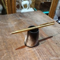 Bolígrafos antiguos: BOLÍGRAFO DUPONT EN PLATA PLAQUÉ ORO. 13,5 CMS.. Lote 40550839