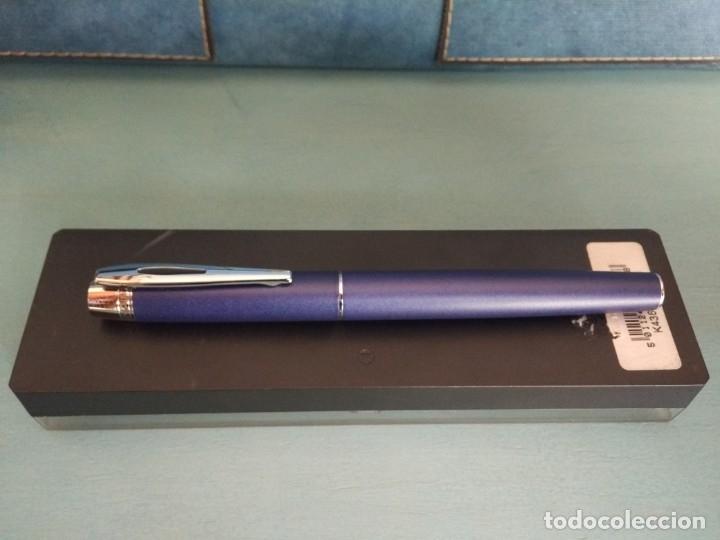 Bolígrafos antiguos: ROLLER INOXCROM SAGA, LACADO EN AZUL - Foto 3 - 178024879