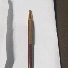 Bolígrafos antiguos: INOXCROM 2001 DORADO Y MARRON MARMOLADO. Lote 178612723