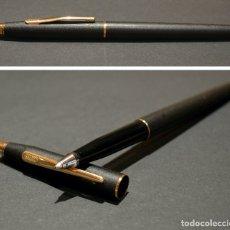 Bolígrafos antiguos: BOLIGRAFO CROSS CLASSIC CENTURY BLACK ORO Y NEGRO MATE CON RECAMBIO NUEVO. Lote 178837547