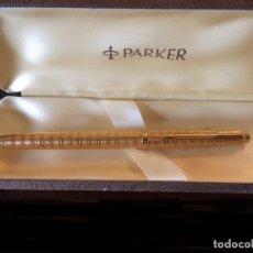 Bolígrafos antiguos: PARKER VINTAGE CHAPADO EN ORO , ROTULADOR. Lote 179172846