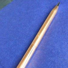 Bolígrafos antiguos: BOLÍGRAFO CROSS DORADO MADE IN USA, 14 KT GOLD FILLED. Lote 181209158