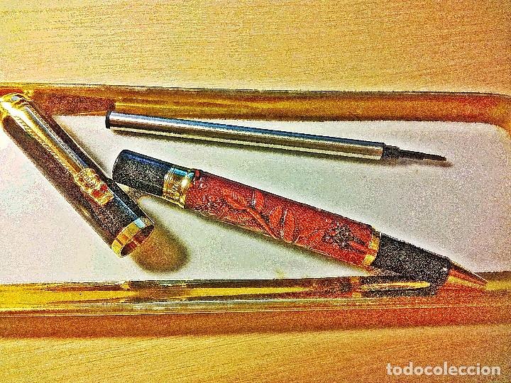 Bolígrafos antiguos: BOLIGRAFO DRAGON ROJO. - Foto 3 - 172015435