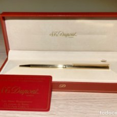 Bolígrafos antiguos: S.T. DUPONT BALLPOINT GOLD FILLED 18CT. CLASSIQUE ALTERNATE MILLERAIES. BOX. 1990.. Lote 183200721
