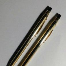 Bolígrafos antiguos: BOLÍGRAFO Y LÁPIZ. CROSS U.S.A. ORO 12 QUILATES.. Lote 184725215