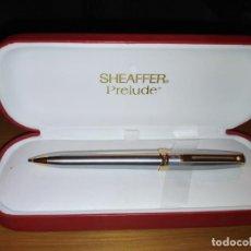 Bolígrafos antiguos: PORTAMINAS SHEAFFER PRELUDE ACERO/CLIP DORADO. Lote 184740543