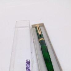 Bolígrafos antiguos: BOLIGRAFO WATERMAN MARMOLADO VERDE. Lote 185731541