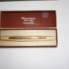 Bolígrafos antiguos: 200,,ANTIGUO MINI BOLIGRAFO WATERMAN, FLAIR LADY BAÑADO EN ORO EN SU ESTUCHE ORIGINAL MADE IN FRANCE. Lote 186107232