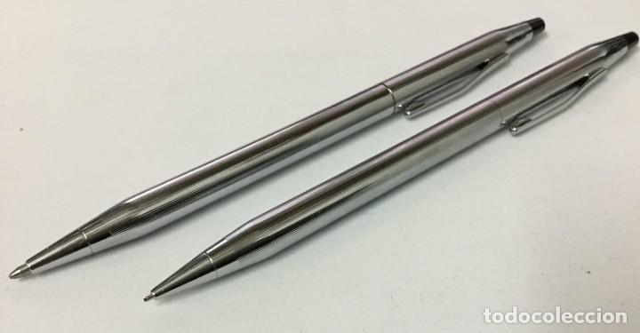 Bolígrafos antiguos: Conjunto Bolígrafo y portaminas - CROSS - IRELAND - Foto 3 - 189406301