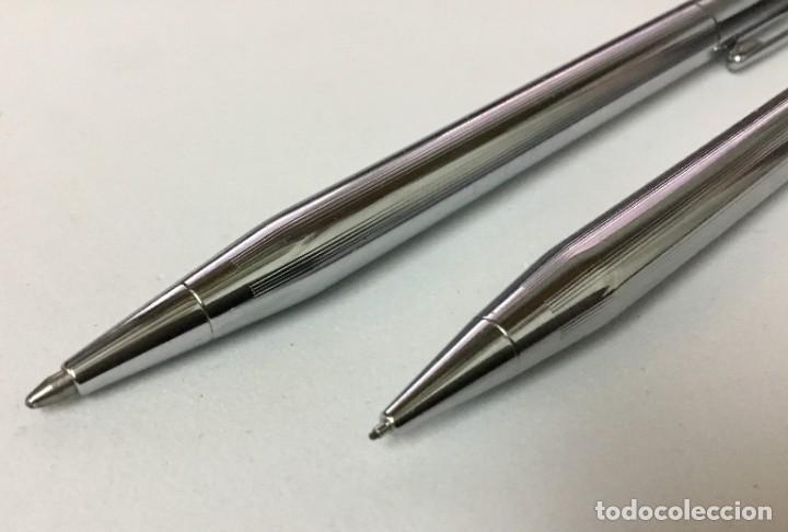 Bolígrafos antiguos: Conjunto Bolígrafo y portaminas - CROSS - IRELAND - Foto 4 - 189406301
