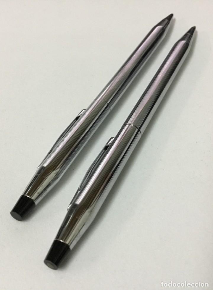 Bolígrafos antiguos: Conjunto Bolígrafo y portaminas - CROSS - IRELAND - Foto 6 - 189406301