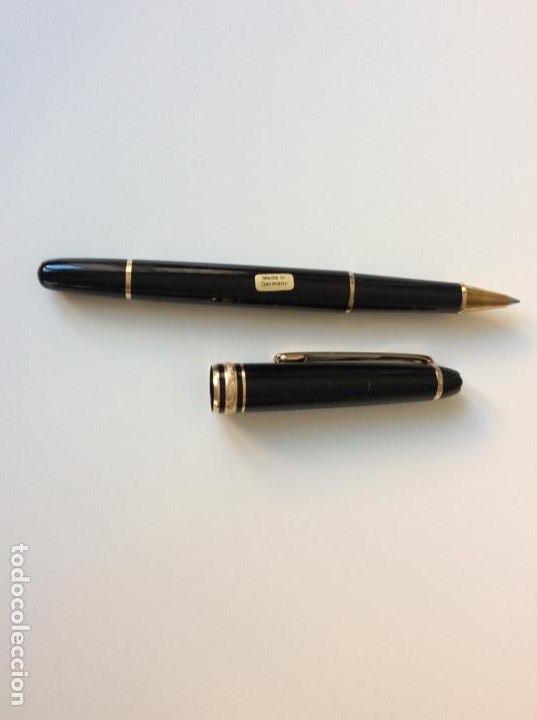 Bolígrafos antiguos: Rollerball refill de Mont Blanc años 70. De resina y oro. Germany. Impecable. Sin usar - Foto 5 - 189480805