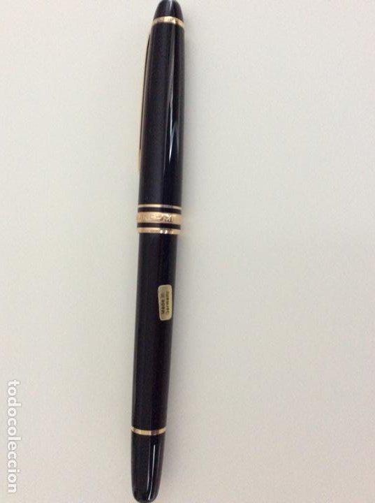 Bolígrafos antiguos: Rollerball refill de Mont Blanc años 70. De resina y oro. Germany. Impecable. Sin usar - Foto 6 - 189480805