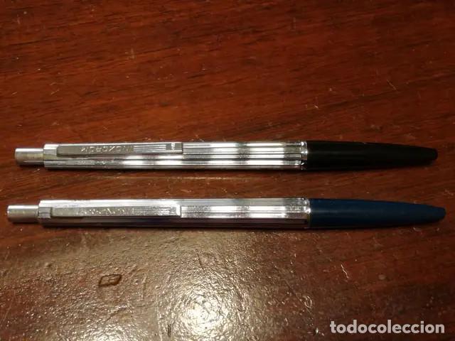 Bolígrafos antiguos: Lote Antiguos Bolígrafos Inoxcrom No funcionan, se tiene que cambiar la mina. - Foto 2 - 190315840
