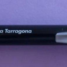 Bolígrafos antiguos: BOLÍGRAFO PUBLICIDAD CAIXA TARRAGONA - 13 CMS. Lote 191053327