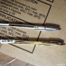 Bolígrafos antiguos: 2 BOLÍGRAFOS BIC ED. ESPECIAL COLOR ORO Y PLATA. NUEVOS DE TIENDA. Lote 191190507