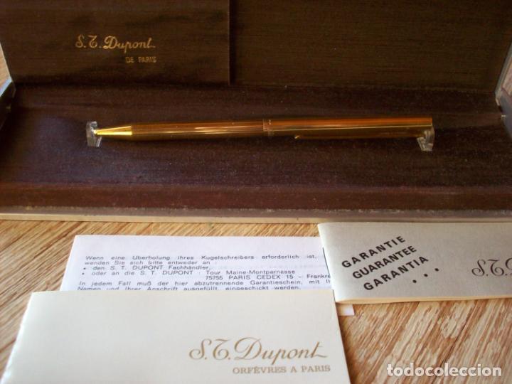 Bolígrafos antiguos: BOLIGRAFO DUPONT . SERIE CLASSIQUE . CHAPADO EN ORO Y LACADO . - Foto 2 - 193424770
