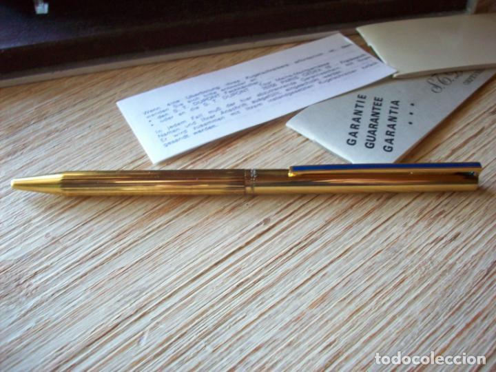 Bolígrafos antiguos: BOLIGRAFO DUPONT . SERIE CLASSIQUE . CHAPADO EN ORO Y LACADO . - Foto 4 - 193424770