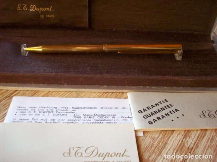 Bolígrafos antiguos: BOLIGRAFO DUPONT . SERIE CLASSIQUE . CHAPADO EN ORO Y LACADO . - Foto 5 - 193424770