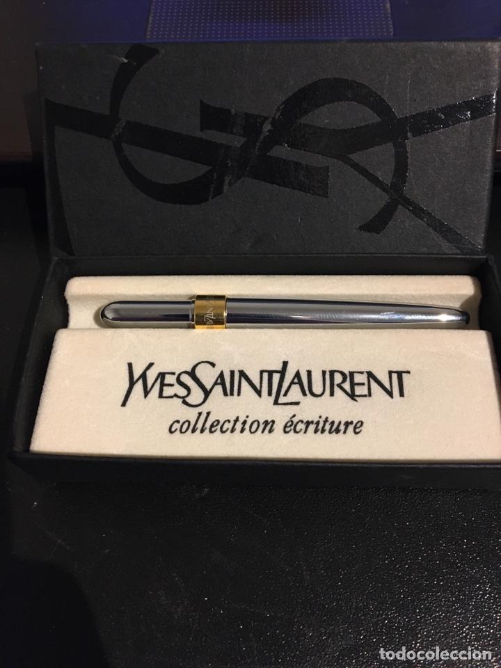 Bolígrafos antiguos: Roller bolígrafo Yves Saint Laurent - collection ecriture - Foto 2 - 193747787