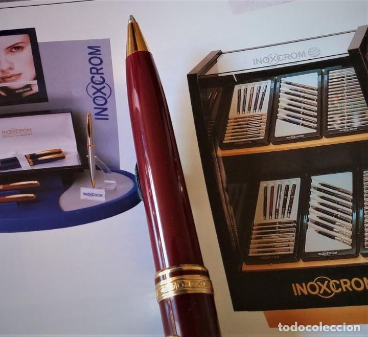 Bolígrafos antiguos: BOLIGRAFO INOXCROM ANDREAS GRANATE - Foto 3 - 196294110