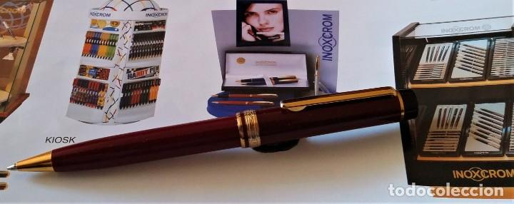 Bolígrafos antiguos: BOLIGRAFO INOXCROM ANDREAS GRANATE - Foto 5 - 196294110