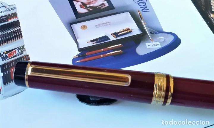 Bolígrafos antiguos: BOLIGRAFO INOXCROM ANDREAS GRANATE - Foto 7 - 196294110