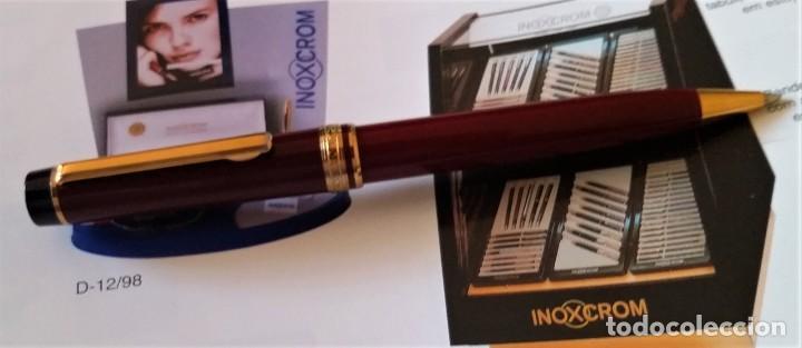 Bolígrafos antiguos: BOLIGRAFO INOXCROM ANDREAS GRANATE - Foto 9 - 196294110