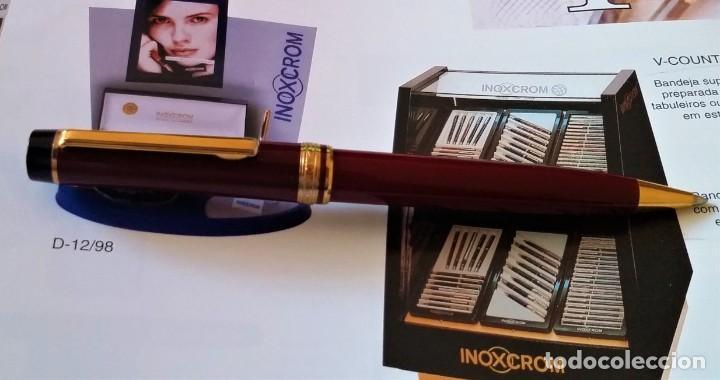 Bolígrafos antiguos: BOLIGRAFO INOXCROM ANDREAS GRANATE - Foto 10 - 196294110