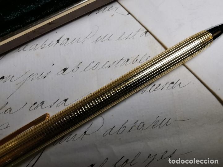Bolígrafos antiguos: CONJUNTO DE BOLÍGRAFO Y PORTAMINAS SONICA IMPERIAL DE LUXE-ORO - Foto 14 - 197030705