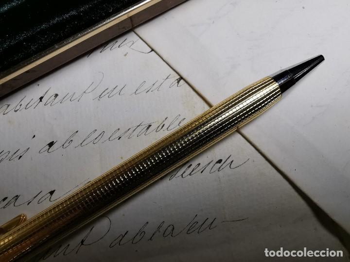 Bolígrafos antiguos: CONJUNTO DE BOLÍGRAFO Y PORTAMINAS SONICA IMPERIAL DE LUXE-ORO - Foto 15 - 197030705