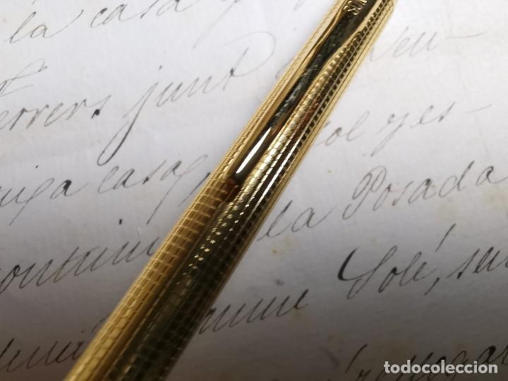 Bolígrafos antiguos: CONJUNTO DE BOLÍGRAFO Y PORTAMINAS SONICA IMPERIAL DE LUXE-ORO - Foto 16 - 197030705