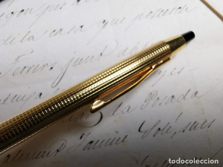 Bolígrafos antiguos: CONJUNTO DE BOLÍGRAFO Y PORTAMINAS SONICA IMPERIAL DE LUXE-ORO - Foto 18 - 197030705