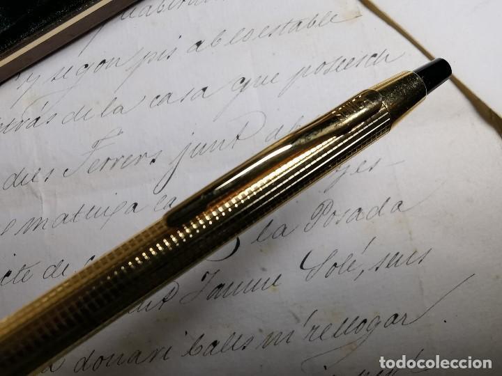 Bolígrafos antiguos: CONJUNTO DE BOLÍGRAFO Y PORTAMINAS SONICA IMPERIAL DE LUXE-ORO - Foto 19 - 197030705