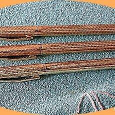 Bolígrafos antiguos: LOTE DE 6 BOLIGRAFOS DORADOS NUEVOS.. Lote 203040403
