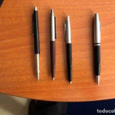 Bolígrafos antiguos: CUATRO BOLÍGRAFOS MARCA PELIKAN Y KNOX CHROME Y PAPER MATE. Lote 203375871